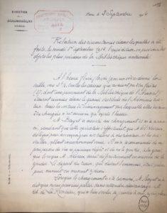 Envoi en province des fonds les plus précieux en septembre 1914 (2005/028/455). © BnF, Archives administratives