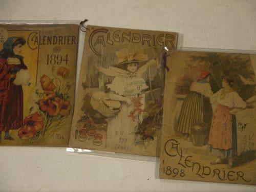 Calendrier pour 1894 et 1898