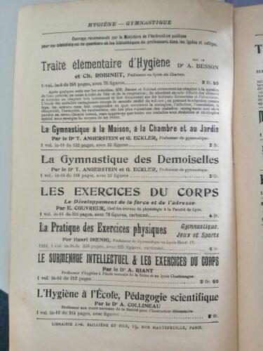 Extrait d'un catalogue de la Librairie J.-B. Baillière et fils, ca 1900