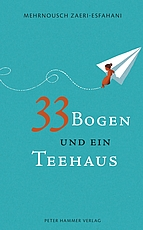 """Nach ihrem ersten Roman """"Mondmädchen"""", den sie gemeinsam mit ihrem Bruder Mehrdad veröffentlicht hat, erschien 2016 ihre Autobiographie """"33 Bogen und ein Teehaus""""."""