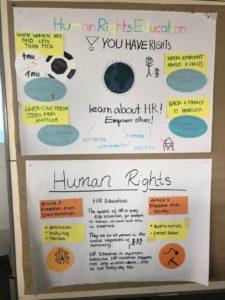 Ein Foto eines Plakats, dassdie Autorin des Beitrags für einen Workshop erstellt hat.