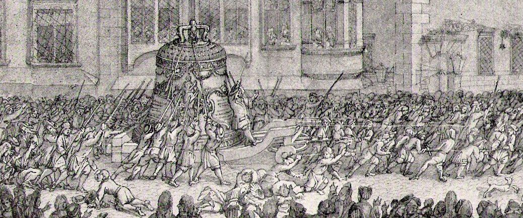 Transport der Pummerin 1711, Ausschnitt