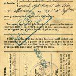 Livret militaire exercices 1909