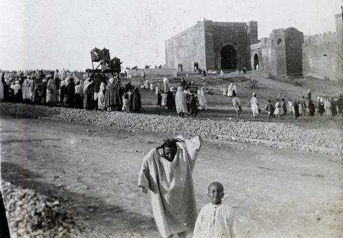 Une vue sur les Oudayas, Rabat, Maroc 1916
