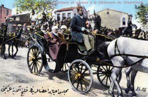 Vieux Maroc, carte postale, les sénateurs se rendant à la cérémonie de l'investiture