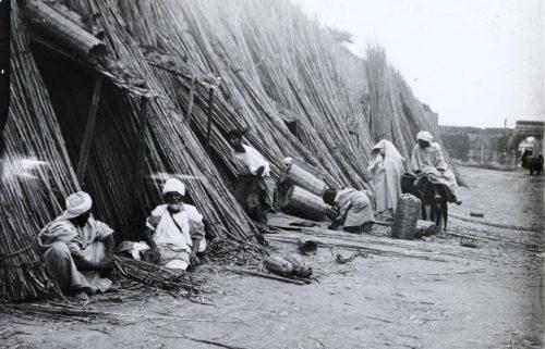 Fabricants de paniers, Maroc 1915-1916 -Photo © Joseph Miquel