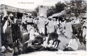 Meknès, chanteurs ambulants - carte postale