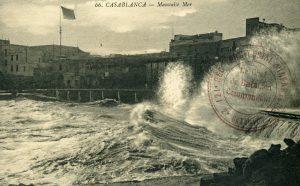 Carte postale Maroc 1914 - Casablanca - Mauvaise mer