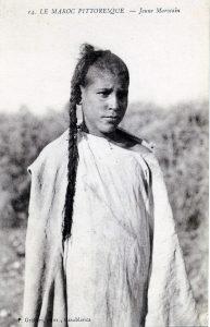 Maroc 1915 carte postale Jeune marocaine