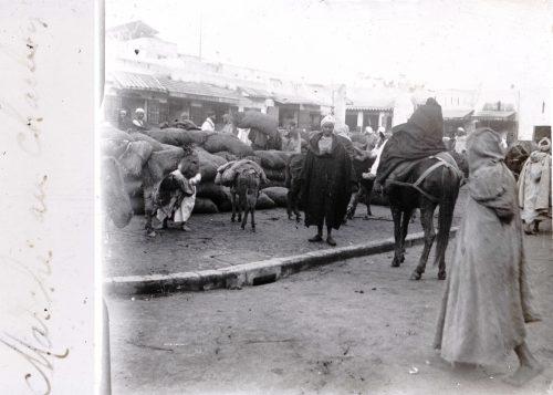 Maroc Marché au charbon - Maroc 1915