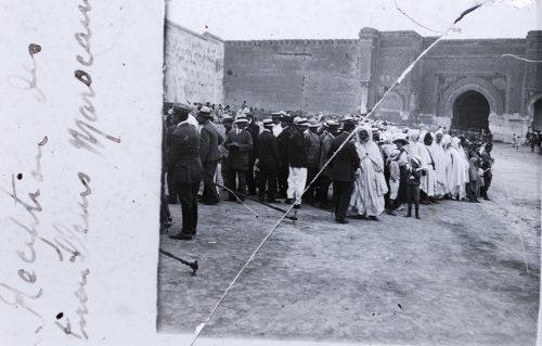 Réceptiondes tirailleurs marocains