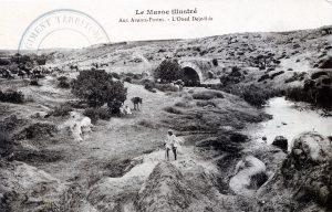 carte postale Maroc 1914 - Aux avants-postes - L'oued Dejedida
