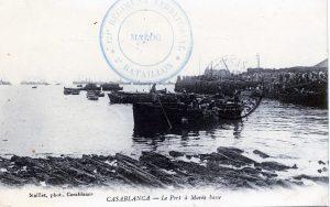 Casablanca - le port à marée basse - Carte postale Maroc 1914