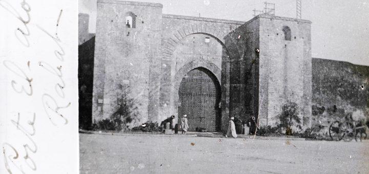 Bab el-Alou (porte de la Hauteur) Rabat, Maroc 1915