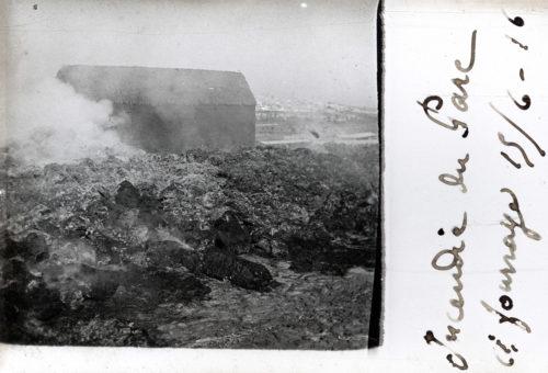 Incendie du parc à fourrage - 15 juin 1916