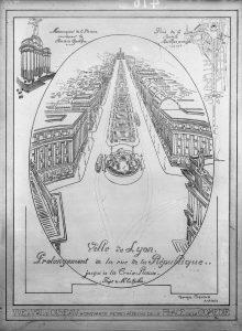 Projet de prolongement de la rue de la République jusqu'à la Croix-Rousse - 38 Ph 240 © Archives municipales de Lyon