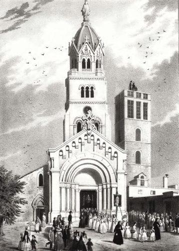 La chapelle de Fourvière et la tour-observatoire en 1852  © Collection particulière