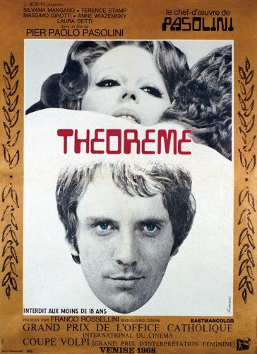 """Affiche du film """"Théorème"""" (1969) - Fonds Michel Chomarat © Bibliothèque municipale de Lyon"""