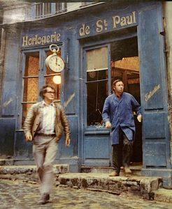 La boutique bleue de L'Horloger de SaintPaul © Institut Lumière