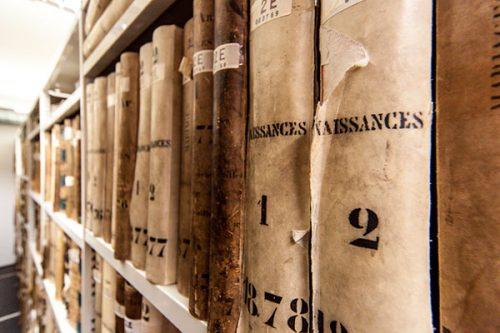 Registres d'état-civil ©Laurent Vella