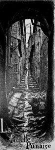 La ruelle punaise (Gravure) © Joannès Drevret