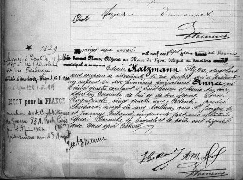 Registres paroissiaux et d'état civil de Lyon - 2ème Naissance : 18/03/1907-28/05/1907 (vue 181) 2E2057 - Archives municipales de Lyon