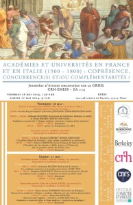 academies et universities