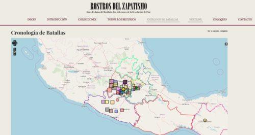 Mapa del zapatismo