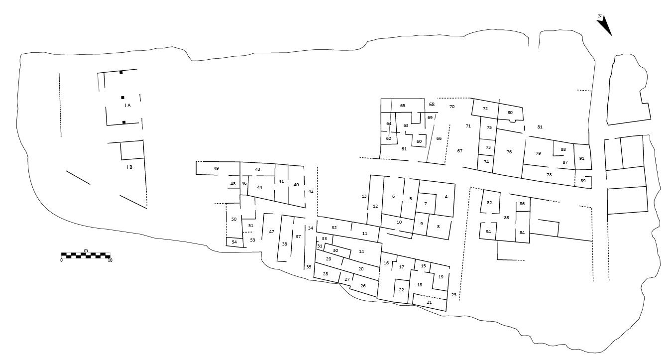 Fig. 1. — Première ébauche d'un schéma général du site avec indication des UA