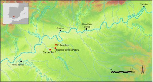 Fig. 2 - Le nucleus d'ateliers d'amphores d'époque augustéenne de la vallée du Tamujar. Doc. I. González Tobar/LabEx Archimede.