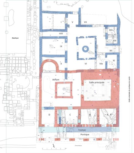 Fig. 2 - Fig. 2 - Dernier état supposé de la « Grande domus ».
