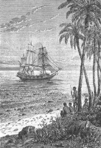 Mutineers of the Bounty by Jules Verne, illustration by Leon Bennett