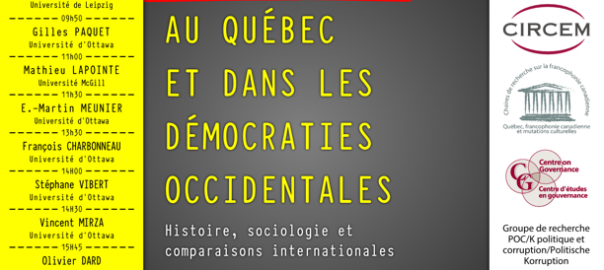 [Journée d'étude] La corruption au Québec et dans les démocraties occidentales