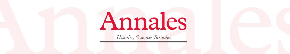 Annales. Histoire, Sciences Sociales
