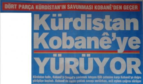 Manchette du quotidien kurde Özgür Gündem