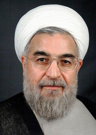 «Hassan Rouhani» par BotMultichillT — User:Mojtaba Salimi. Sous licence CC BY-SA 3.0 via Wikimedia Commons