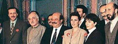 Photo datant de 1994 où apparaissent Fethullah Gülen et Recep Tayyip Erdoğan