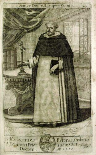 """Esterházy János"" kitalált domonkos teológus (Trophaeum nobilissimae ac antiquissimae domus Estorasianae, Viennae, 1700; SLUB)"
