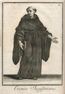 Ágostonos remete / Filippo Buonanni SJ metszete, 1706 (Bonanni I, 61; PKK)