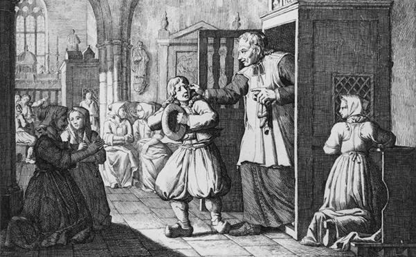 La confession (Olivier Stanislas Perrin, XIXe siècle) © MuCEM