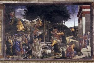 Épisodes de la vie de Moïse, Boticelli (1481) © Alinari, dist. RMN-GP/Raffaelo Bencini