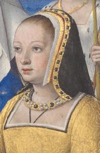 Portrait d'Anne de Bretagne, tiré du Livre d'Heures
