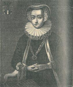 Sophie Brahe, gravure du début du XXe siècle de Hans Peter Hansen selon une peinture à l'huile d'époque