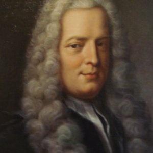 Détail d'un portrait de Gabriel Cramer, par Robert Gardelle, conservé à la Bibliothèque de Genève