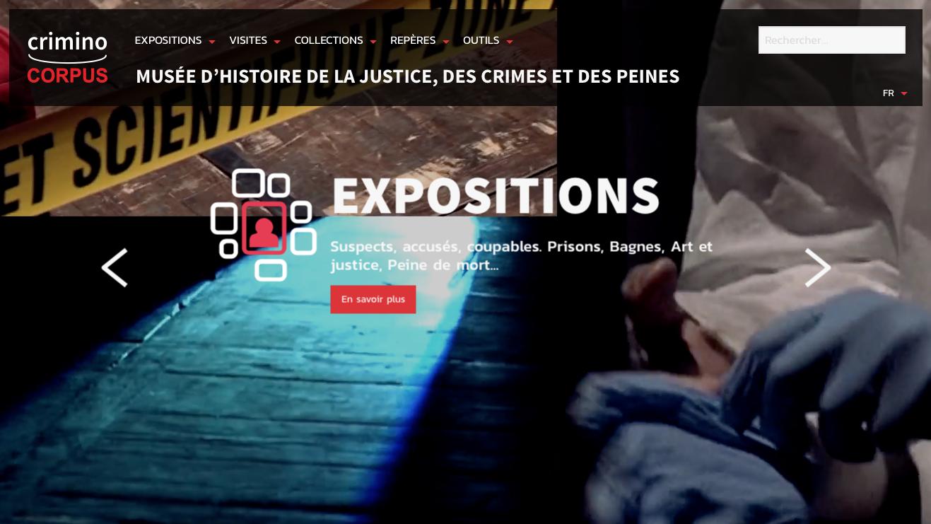 Page d'accueil de https://criminocorpus.org/fr/