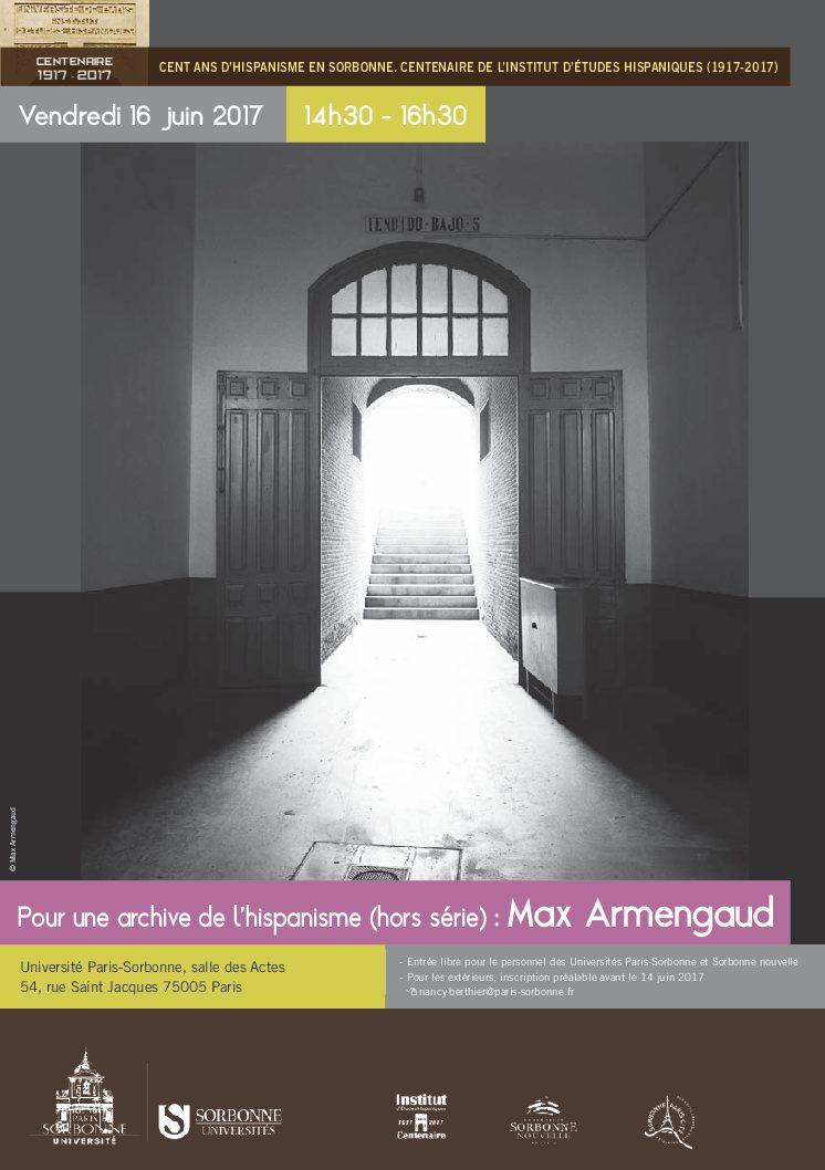 Pour une archive de l'hispanisme (hors série): Max Armengaud