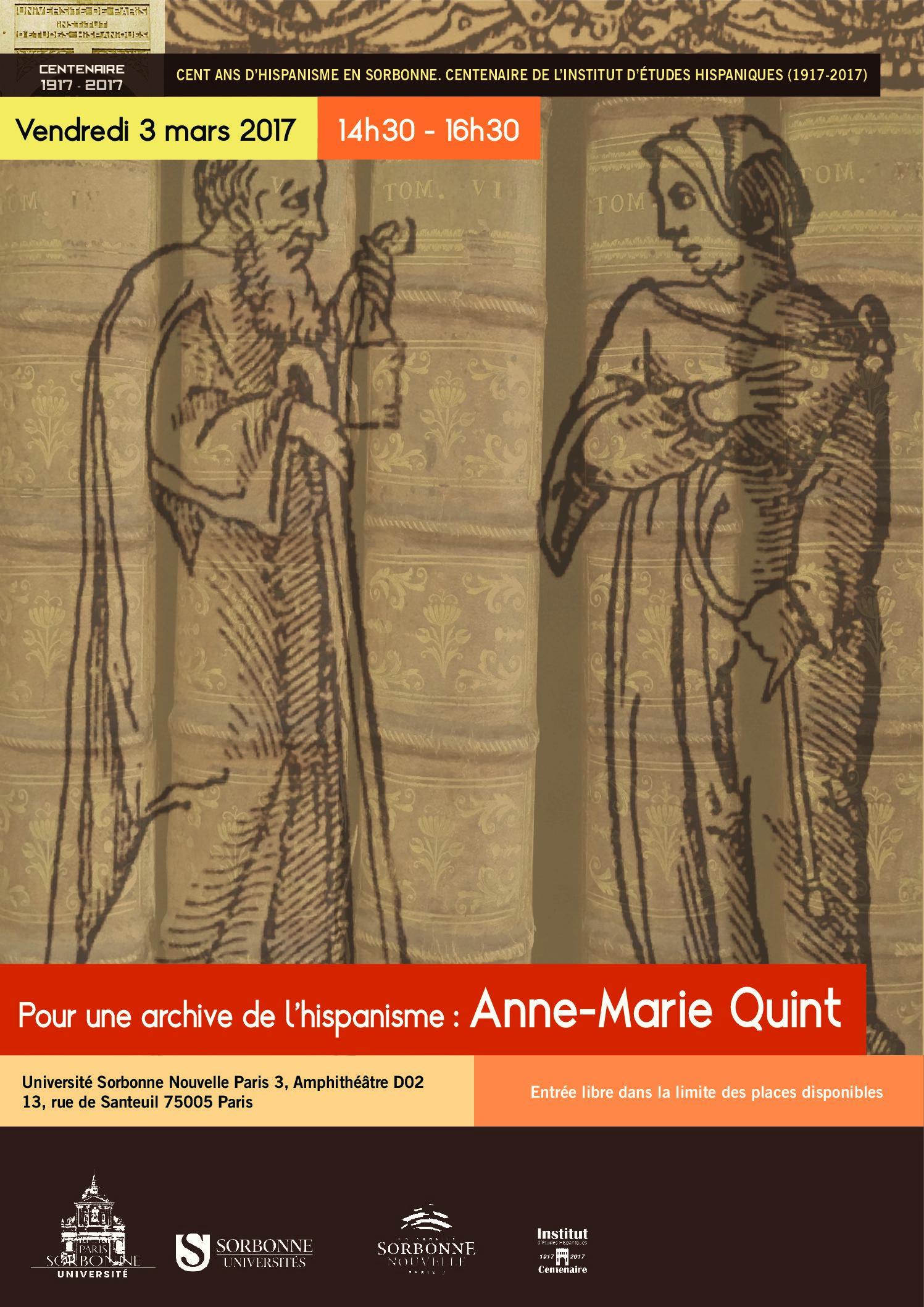 Pour une archive de l'hispanisme (3) : Anne-Marie Quint