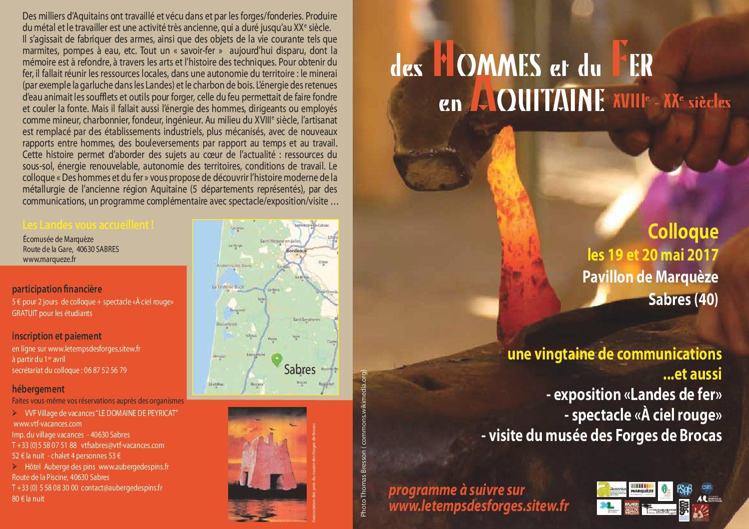 Des Hommes et du Fer en Aquitaine – XVIIIe-XXe siècles