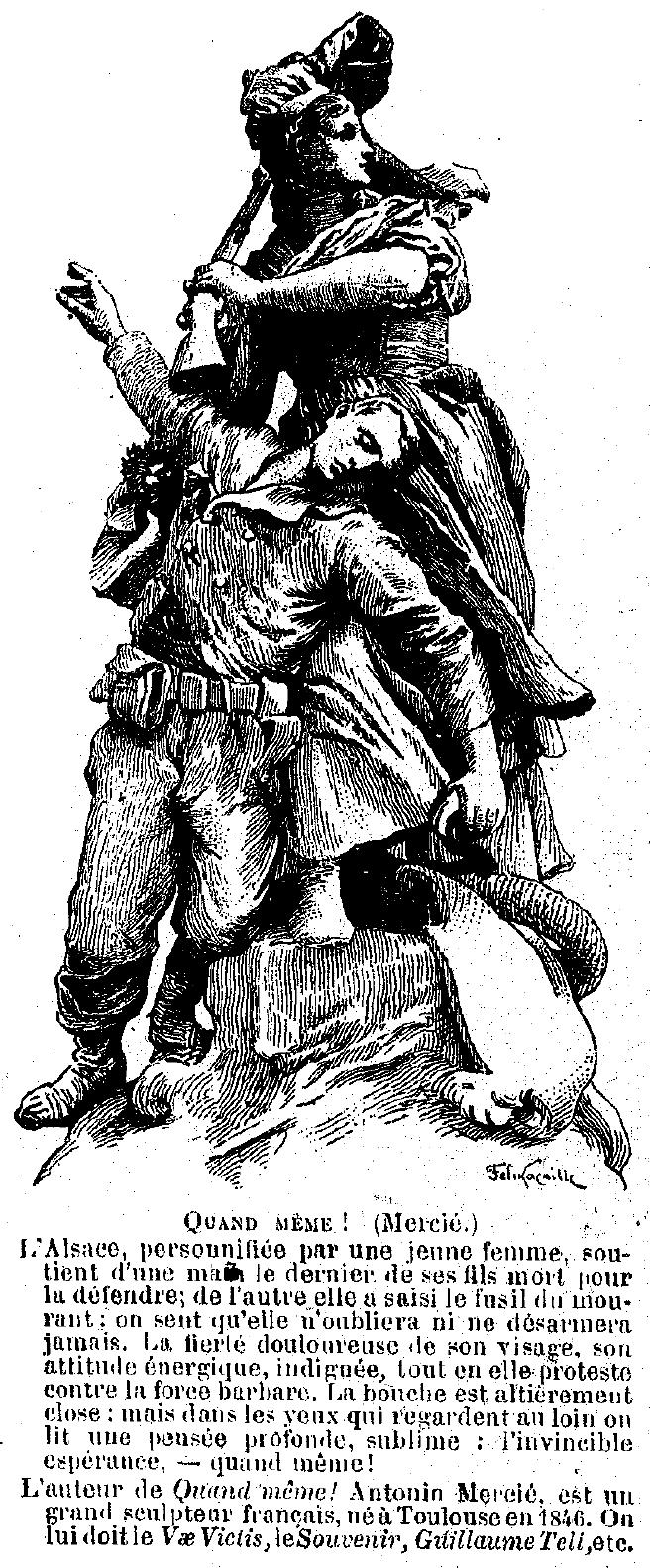 Statue de l'Alsace