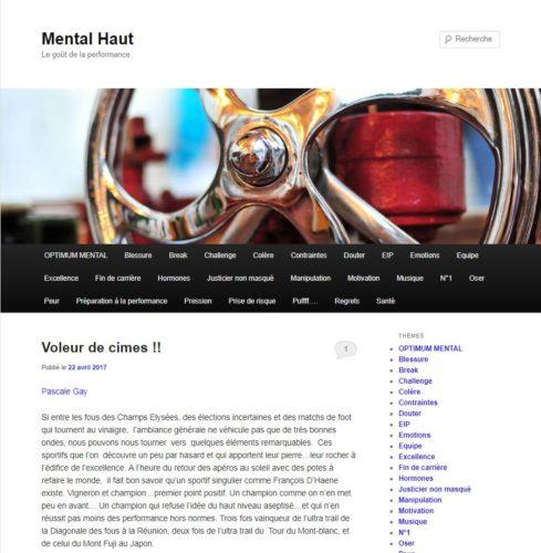 Page d'accueil du blog Mental Haut de Pascale Gay